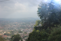 View of Bamenda Cameroon from the hill of Jangma